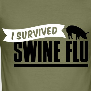 Khaki green i survived swine flu H1N1 schweinegrippe T-Shirts - Männer Slim Fit T-Shirt