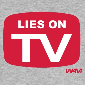 Grigio melange lies on tv by wam T-shirt - Maglietta aderente da uomo