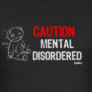 Svart mental disordered by wam T-shirts - Slim Fit T-shirt herr