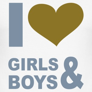 Vit I LOVE girls and boys - eushirt.com - SE T-shirts - Slim Fit T-shirt herr