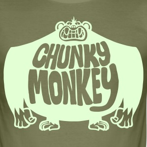 Brown Chunky Monkey Men's Tees - Men's Slim Fit T-Shirt