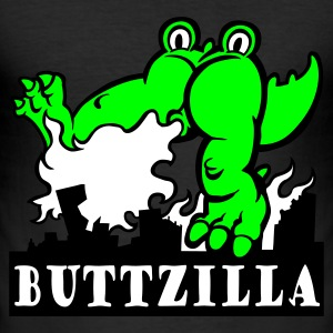 Egg yellow ButtZilla Men's Tees - Men's Slim Fit T-Shirt