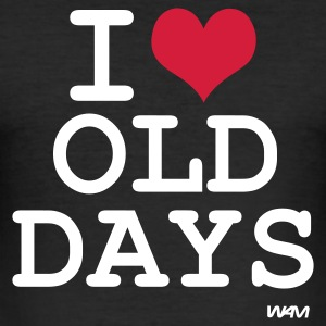 Zwart i love old days by wam T-shirts - slim fit T-shirt