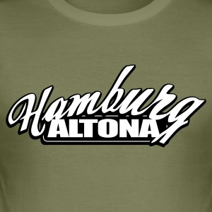 Olive HAMBURG ALTONA T-Shirts - Männer Slim Fit T-Shirt