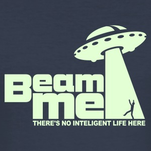Beam me up! (+Text) No.2  - Men's Slim Fit T-Shirt