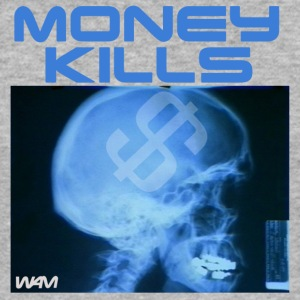 Grijs gespikkeld money kills by wam T-shirts - slim fit T-shirt