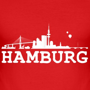 Wine Hamburg T-Shirts - Männer Slim Fit T-Shirt