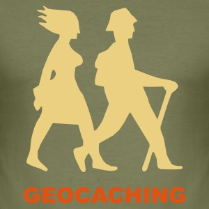 Braun geocaching 3 T-Shirts - Männer Slim Fit T-Shirt