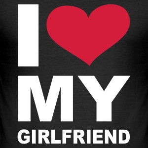Schwarz I love my girlfriend - eushirt.com T-Shirts - Men's Slim Fit T-Shirt