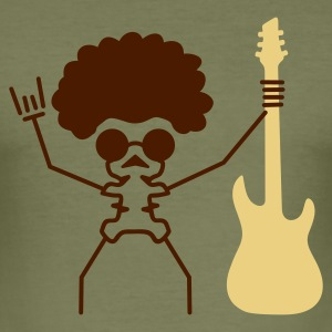 Camel lets rock v1 guitar afro hairstyle sunglasses (© alteerian) T-Shirts - Männer Slim Fit T-Shirt