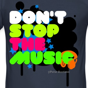 Dark navy Dont Stop The Music T-shirts - slim fit T-shirt