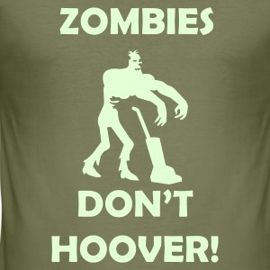 Brown Zombies Don't Hoover! Men's Tees - Men's Slim Fit T-Shirt