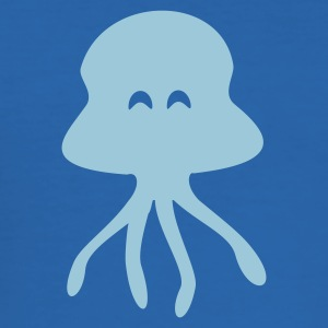 Kungsblå manet / Qualle / jellyfish (1c) T-shirts - Slim Fit T-shirt herr