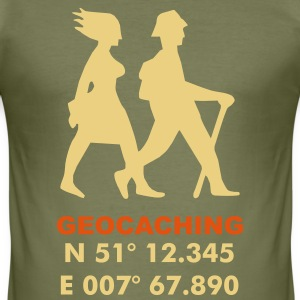 Geocaching Koordinaten - Männer Slim Fit T-Shirt