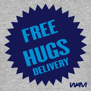 Gris chiné free hugs delivery by wam T-shirts - Tee shirt près du corps Homme