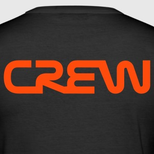 Zwart Crew tekst T-shirts - slim fit T-shirt