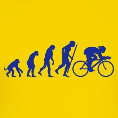 Egg yellow Evolution of cycling Men's Tees