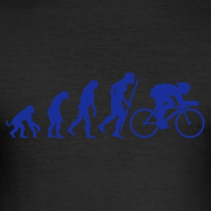 Egg yellow Evolution of cycling Men's Tees - Men's Slim Fit T-Shirt
