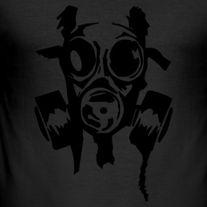 Gul bad_gasmask T-skjorter - Slim Fit T-skjorte for menn