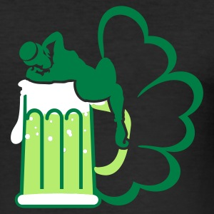 Schwarz st patrick beer 'n girls (3c) T-Shirts - Männer Slim Fit T-Shirt