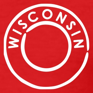 Red Wisconsin Men's Tees - Men's Slim Fit T-Shirt
