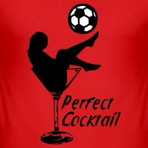 Dark orange Soccer Cocktail 2C T-shirts - slim fit T-shirt