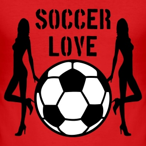 Dark orange Soccer Love 2C T-shirts - slim fit T-shirt