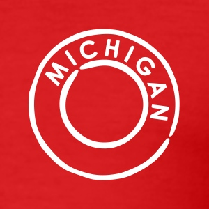 Rot Michigan T-Shirts - Männer Slim Fit T-Shirt