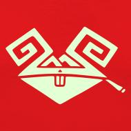 Motiv ~ Kiffender, leuchtender Hase (big) Slim-T-Shirt