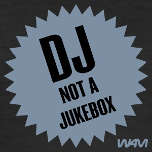 Zwart dj not a jukebox by wam T-shirts - slim fit T-shirt