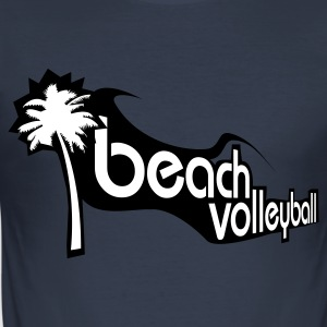 Dark navy Beachvolleyball T-shirts - Männer Slim Fit T-Shirt