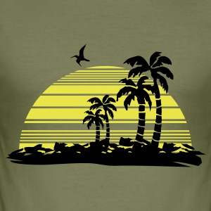 Olive sunset T-Shirts - Männer Slim Fit T-Shirt