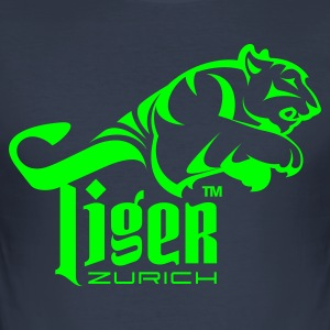 Dark navy TIGER ZURICH T-Shirts - Männer Slim Fit T-Shirt