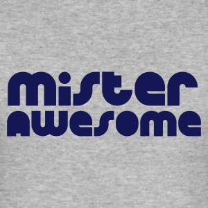 Heather grey mister awesome Men's T-Shirts - Men's Slim Fit T-Shirt