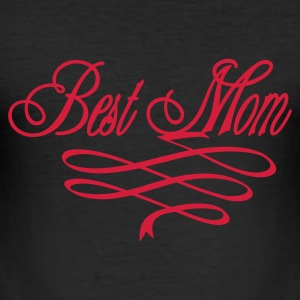 Svart bästa mamma / best mom (1c) T-shirts - Slim Fit T-shirt herr