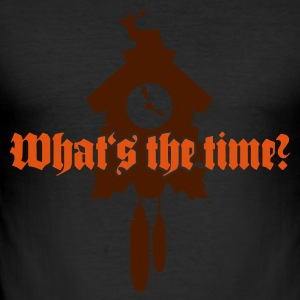 Eigelb Whats the time? T-Shirts - Männer Slim Fit T-Shirt