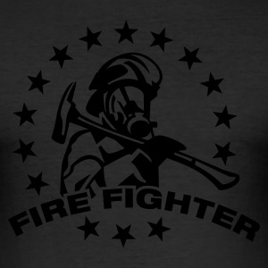Eigelb FIREFIGHTER T-Shirts - Männer Slim Fit T-Shirt