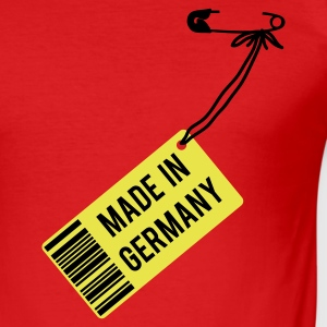 Rot Made in Germany T-Shirts - Männer Slim Fit T-Shirt