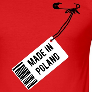 Rot Made in Poland T-Shirts - Männer Slim Fit T-Shirt