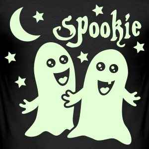 Zwart spookie spoken T-shirts - slim fit T-shirt