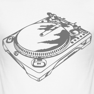 Wit Turntable T-shirts - slim fit T-shirt