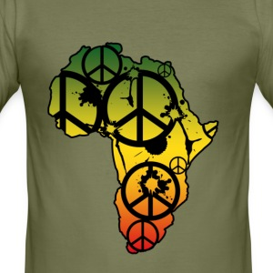 Olive afrika2 T-Shirts - Männer Slim Fit T-Shirt