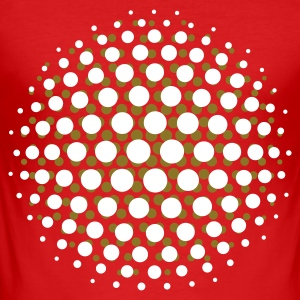 FUNKY DISCO SUPERNOVA - MOIRE PATTERN - by toneyshirts.de - Männer Slim Fit T-Shirt