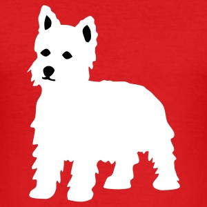 Wine West Highland Terrier / Westie T-Shirts - Männer Slim Fit T-Shirt