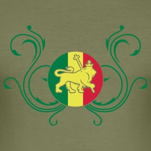 Braun lion_of_judah_jamaica_v2c_3c T-Shirts - Männer Slim Fit T-Shirt