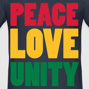 Dark navy PeaceLoveUnity T-Shirts - Männer Slim Fit T-Shirt