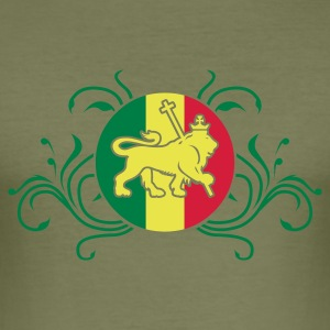 Braun lion_of_judah_jamaica_v2_3c T-Shirts - Männer Slim Fit T-Shirt