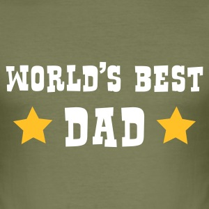 World's Best Dad - Männer Slim Fit T-Shirt