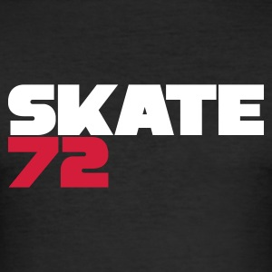 Black Skate 72 Men's T-Shirts - Men's Slim Fit T-Shirt