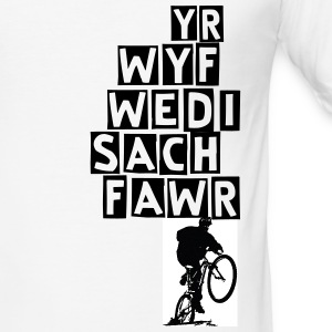 Welsh Mountain Bike Ego - Men's Slim Fit T-Shirt